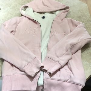 Tommy Hilfiger zip up hoodie with faux fur inside